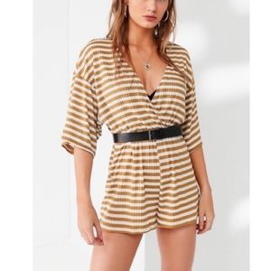Urban Outfitters Gold Striped Romper